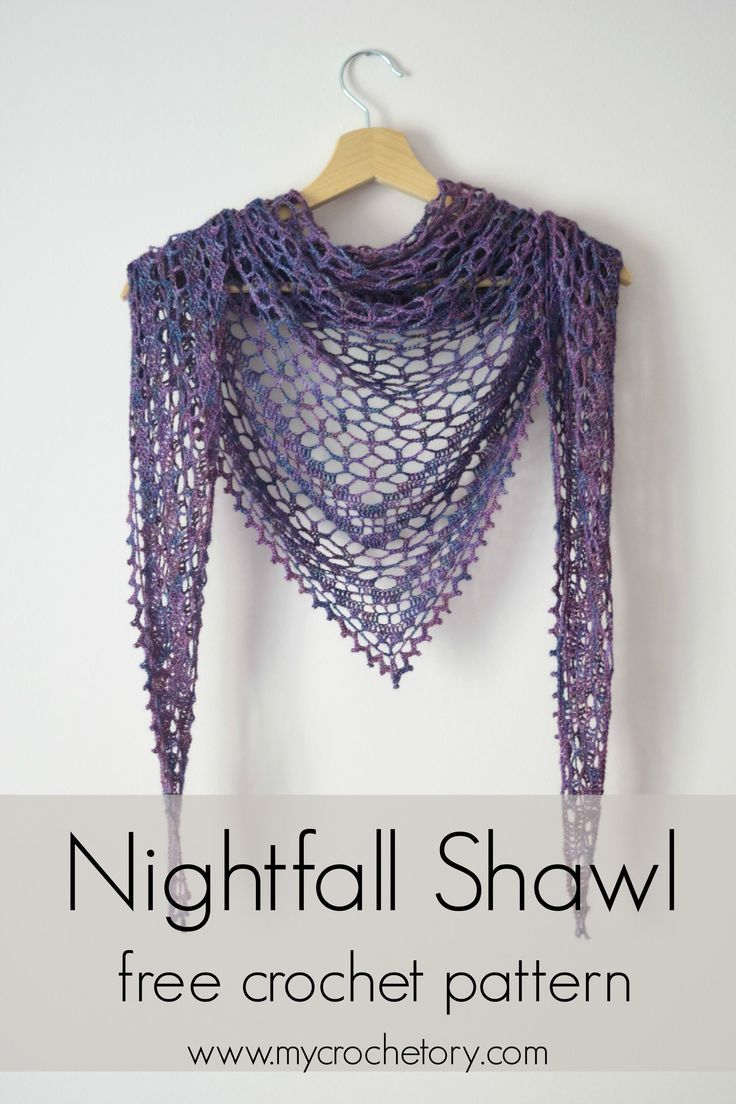 Crochet Nightfall Shawl - free crochet pattern by MyCrochetory