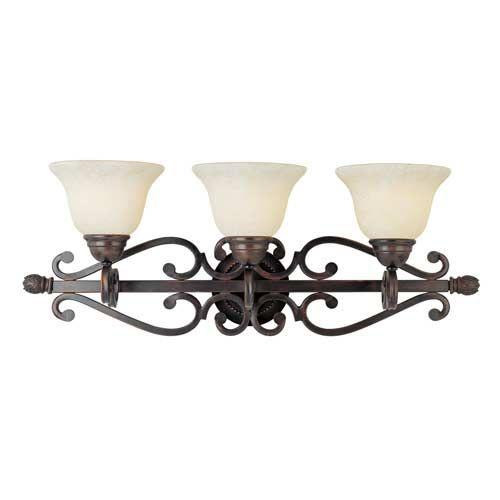 Photo of Maxim Lighting International Manor Oil Rubbed Bronze Three Light Bathroom Lamp 12213fioi | Bellacor