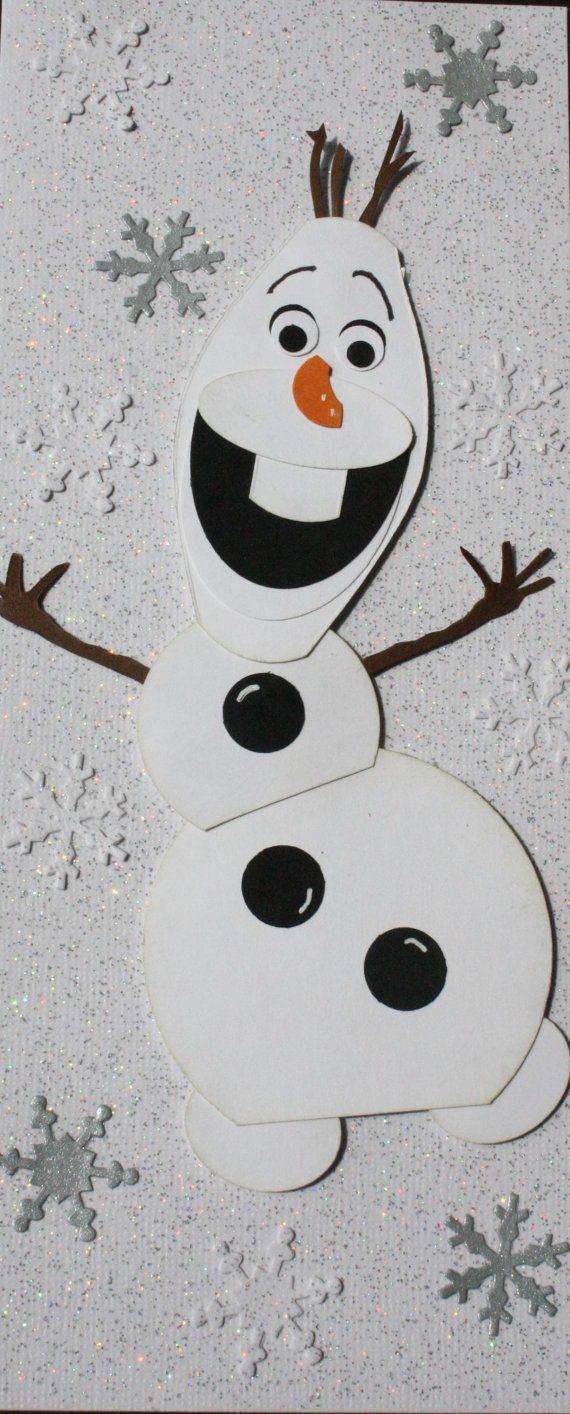 Olaf handgemachte karte schneemann gefroren weihnachten pinterest schneemann karten und - Schneemann olaf basteln ...