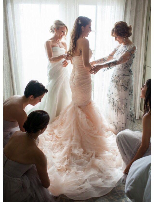 Theshoegirl Getting Ready Gown Vera Wang Gemma In Blush Pink