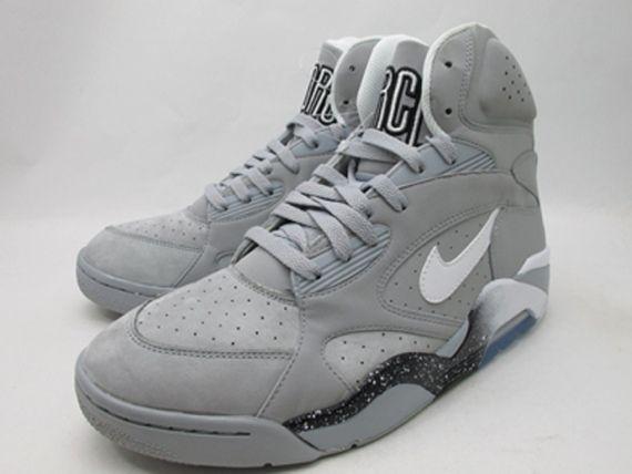 new arrival bdfe4 60bad Nike Air Force 180 High Wolf Grey White