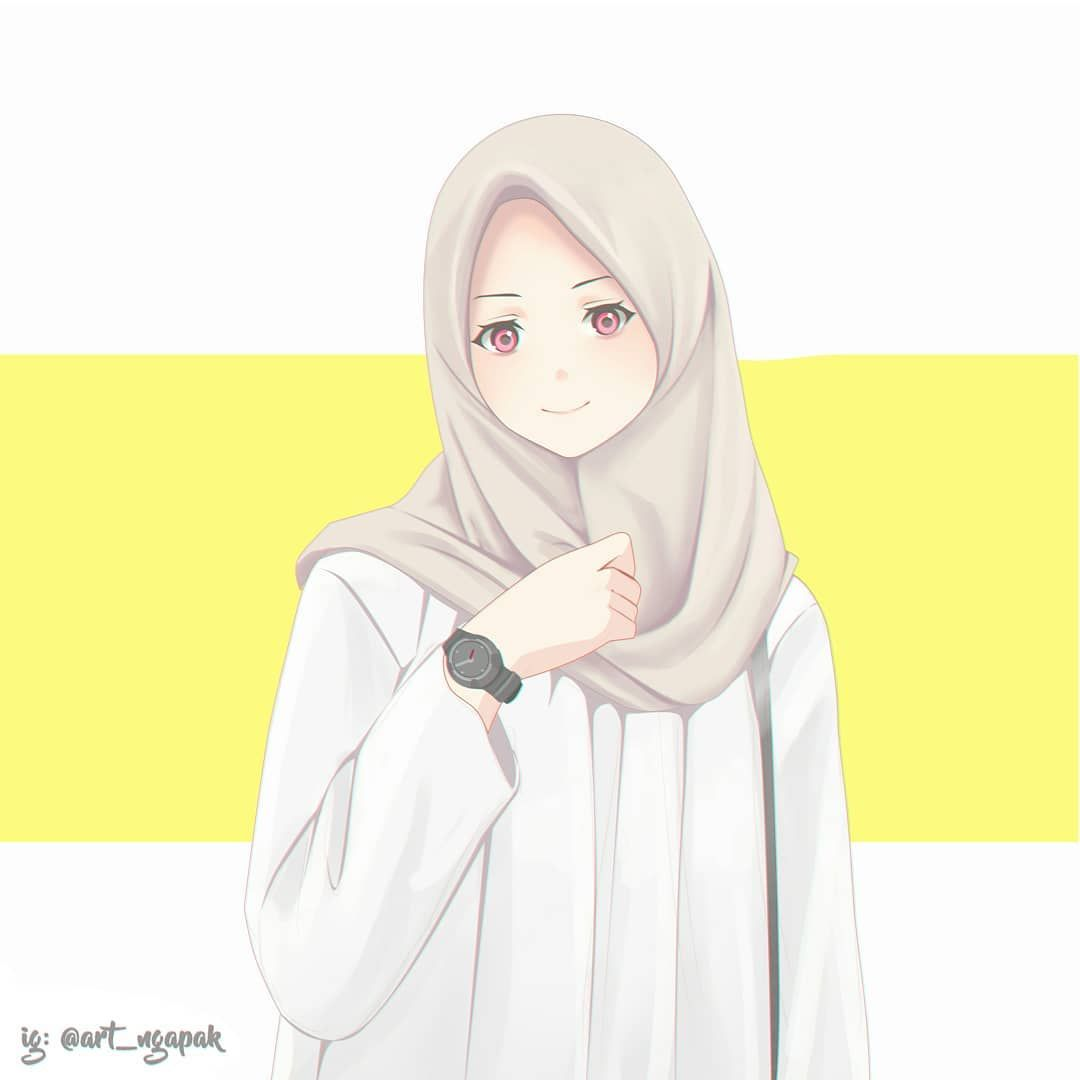 Ngapak Art Di Instagram Commiss Art Thanks Sketching Anime Animegirl Webtoon Pencildrawing Ill Anime Muslim Anime Art Beautiful Islamic Cartoon
