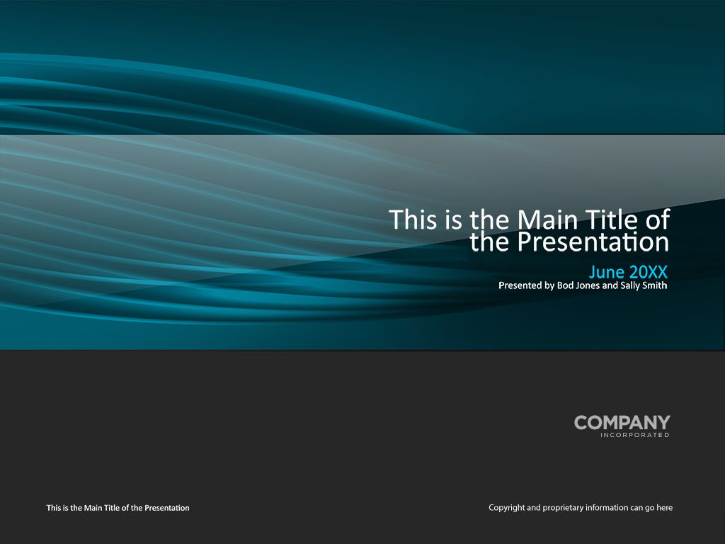 Transparent Tubes Presentation Cover Page Template Powerpoint - Presentation cover page template