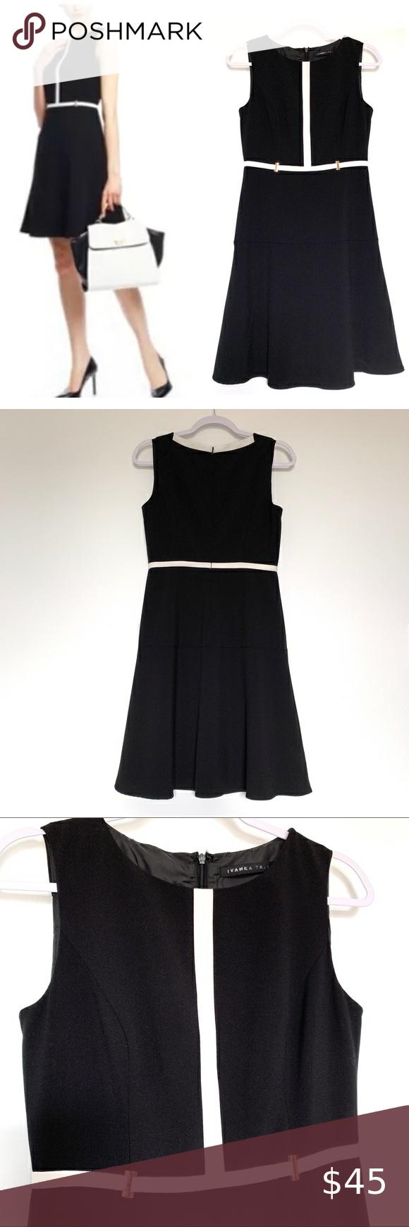 Ivanka Trump Black Dress With White Trim Size 2 Black Dress White Trim Dresses [ 1740 x 580 Pixel ]