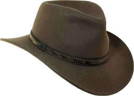 65e1945c0 Scala Men's Crushable Wool Outback Hat Khaki Medium Scala | Boots ...