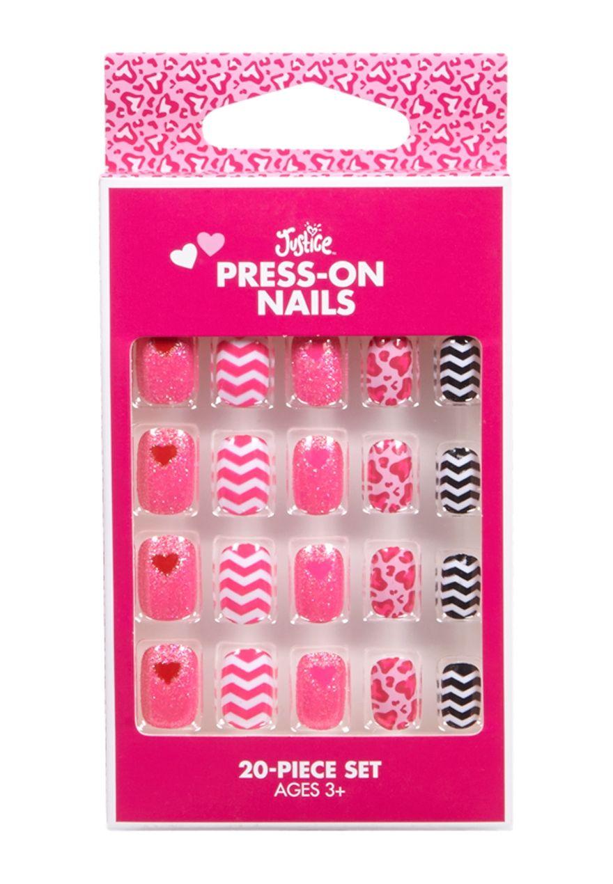 Chevron Glitter Press On Nails | Justice new do | Pinterest ...