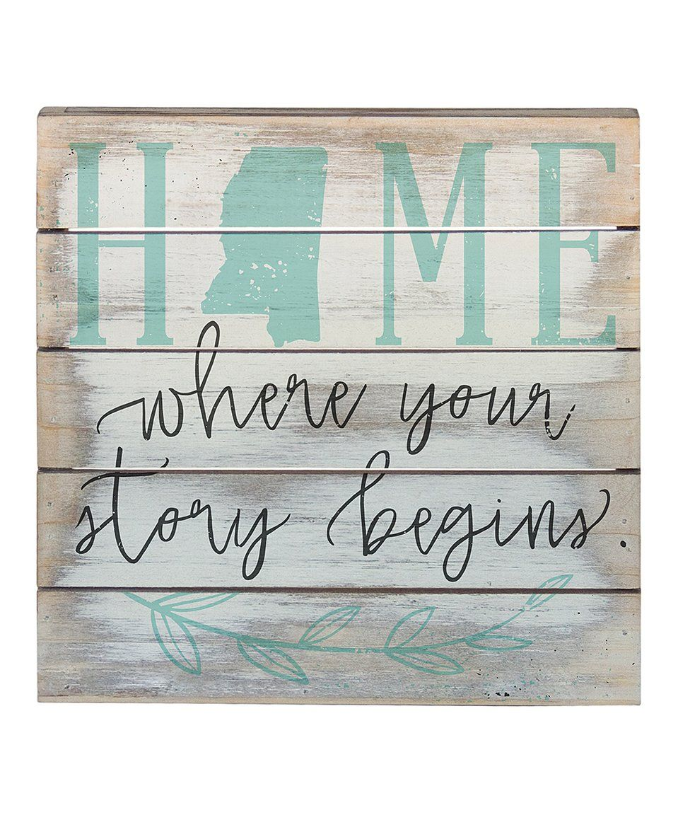 Happiness Is Homemade Handpainted Sign Handmade 12x12 Wall: Take A Look At This Whitewashed 'Story Begins' Home State