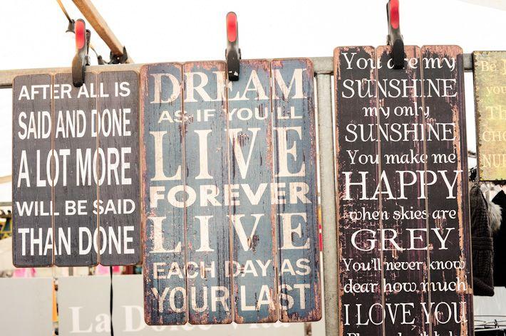 Dream quotes found in Albert Cuyp Market - the street market in Netherlands
