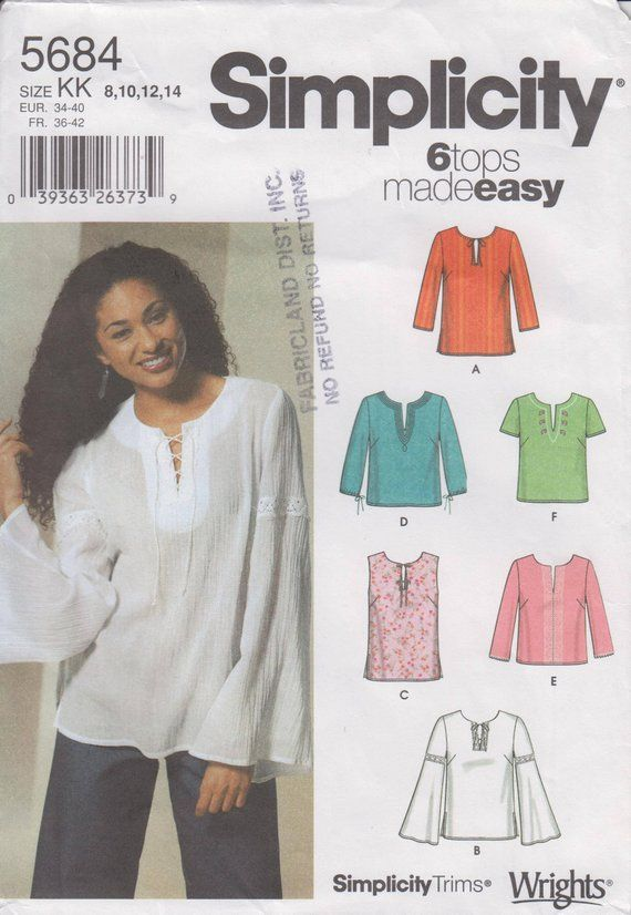 39b15ae089ca Women s Tunic or Blouse Sewing Pattern - Ladies Shirt Pattern - Size ...