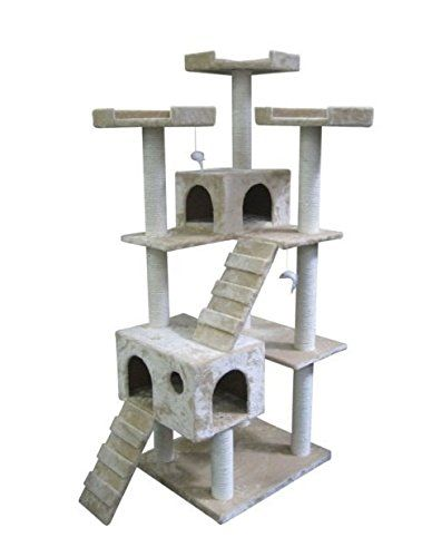 Very Tall Corner Cat Tree Condo For
