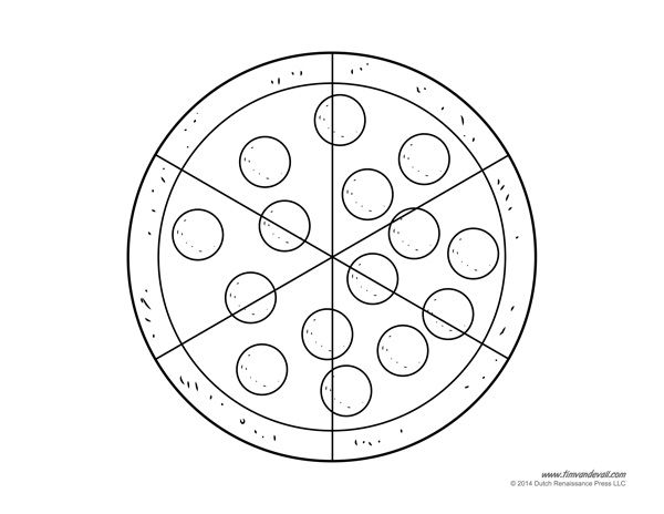 Blank Pizza Template Printable Pizza Craft For Kids Pizza Coloring Page Pizza Craft Pizza Toppings