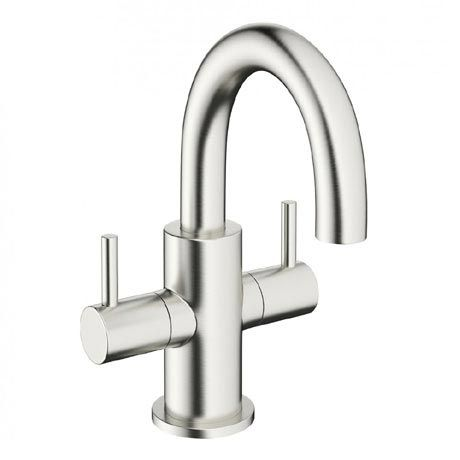 Crosswater Mike Pro Mini Monobloc Basin Mixer Brushed Stainless Steel Pro118dnv Basin Mixer Taps Basin Mixer Mixer Taps