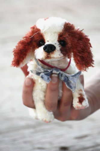OOAK Artist Realistic Style Dog, Puppy Cavalier King Charles Spaniel Pino