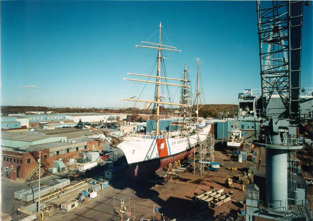 University of Maryland University College (UMUC) now holds undergraduate classes at the Coast Guard Yard at Curtis Bay in Baltimore, Maryland, for active-duty Coast Guard servicemembers and Coast Guard civilians.