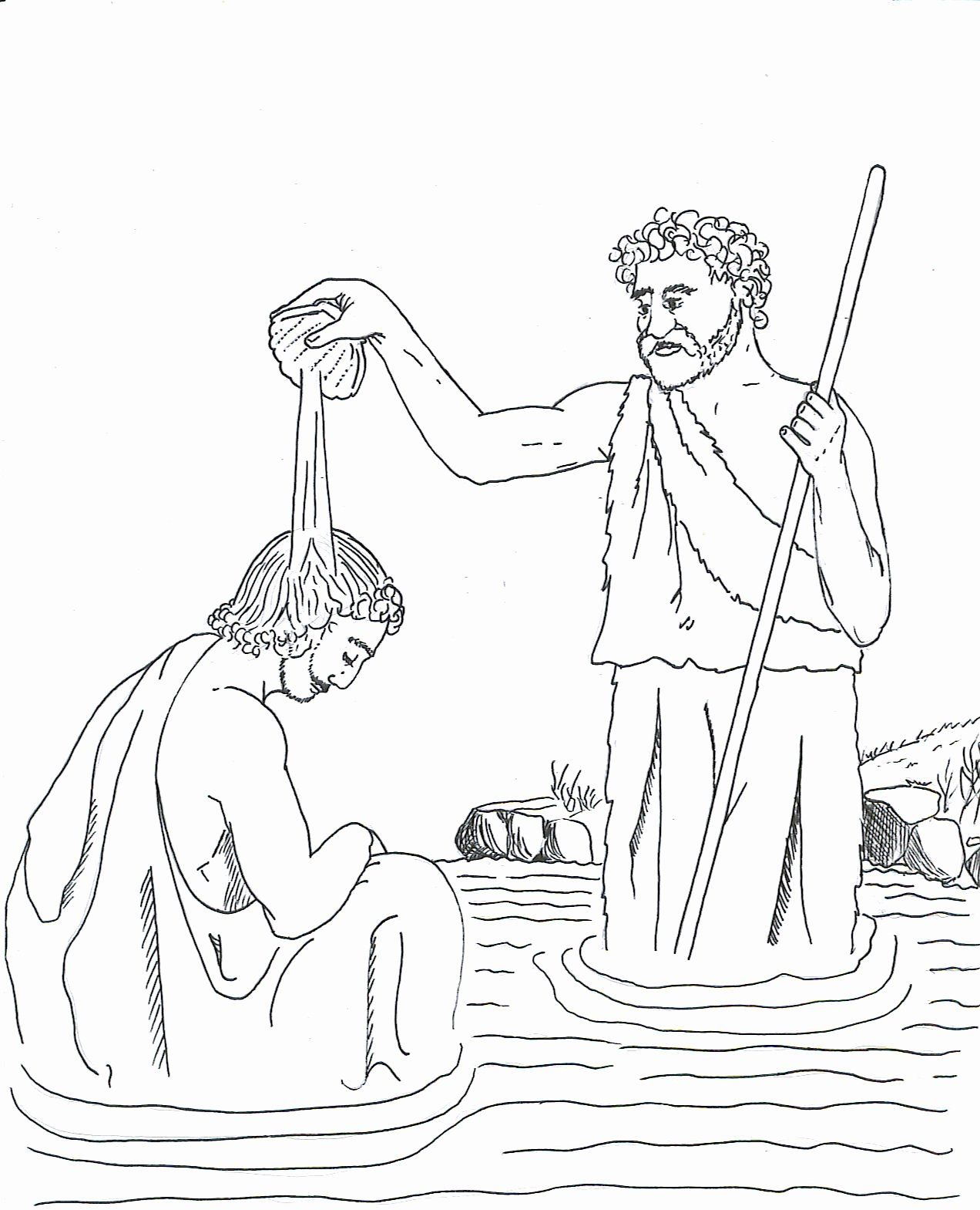 John The Baptist Coloring Page Luxury Free Coloring Page Saint John The Baptist Baptizing With Coloring Pages Bible Coloring Pages Christian Coloring