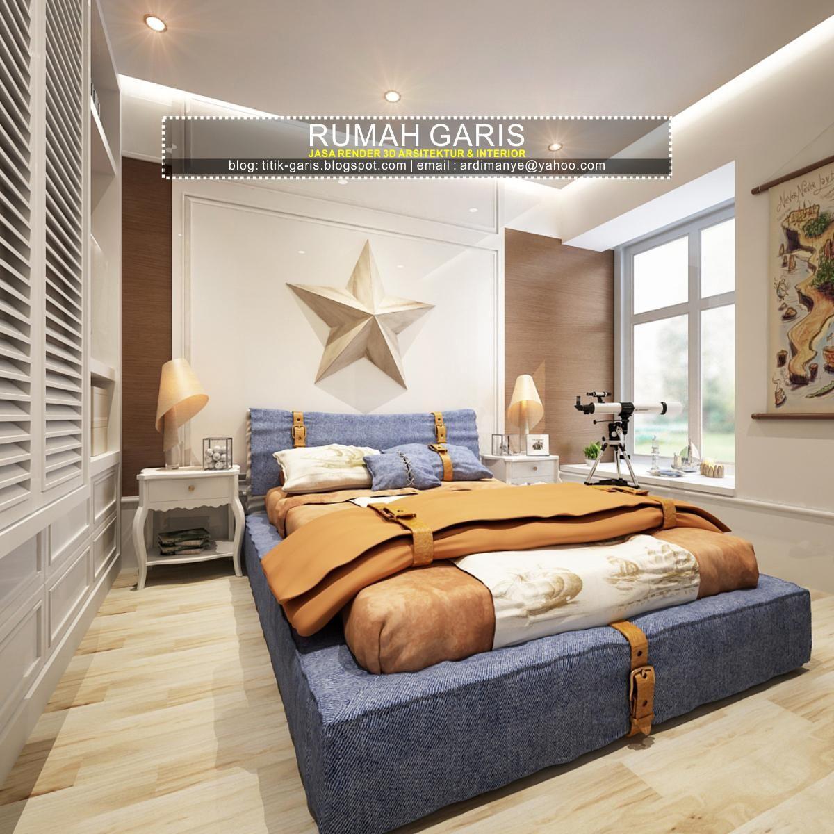 Kamar Tidur Dengan Desain Garis Garis | Galerihom
