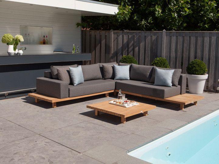 Paradiso Loungegruppe Garten 12 Teilig Exotan Teakholz Nanotex Grau Garten Gartenmobel Gartensofa Gartenlounge Loungeg Lounge Mobel Garten Lounge Teak