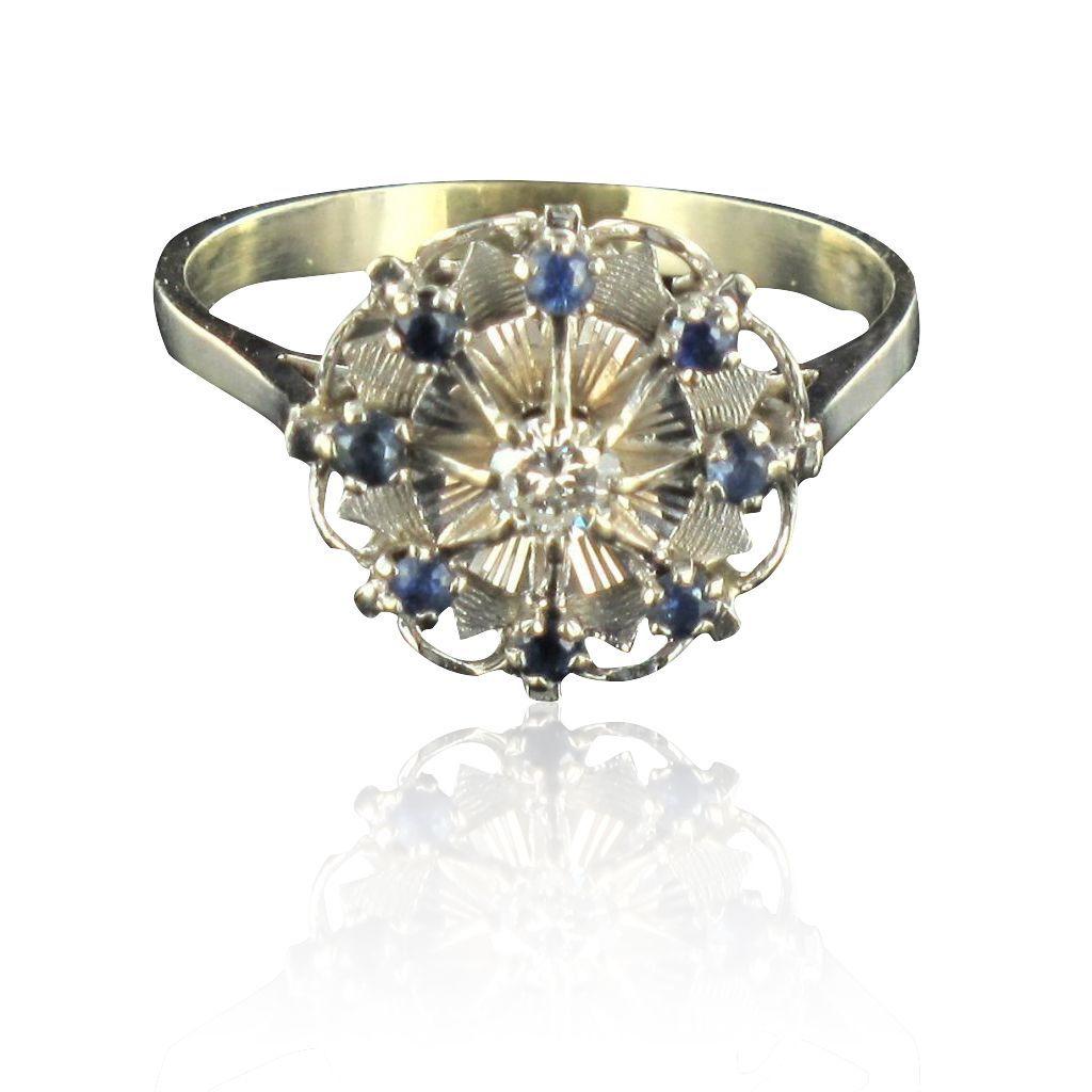 bague diamant saphir ancienne