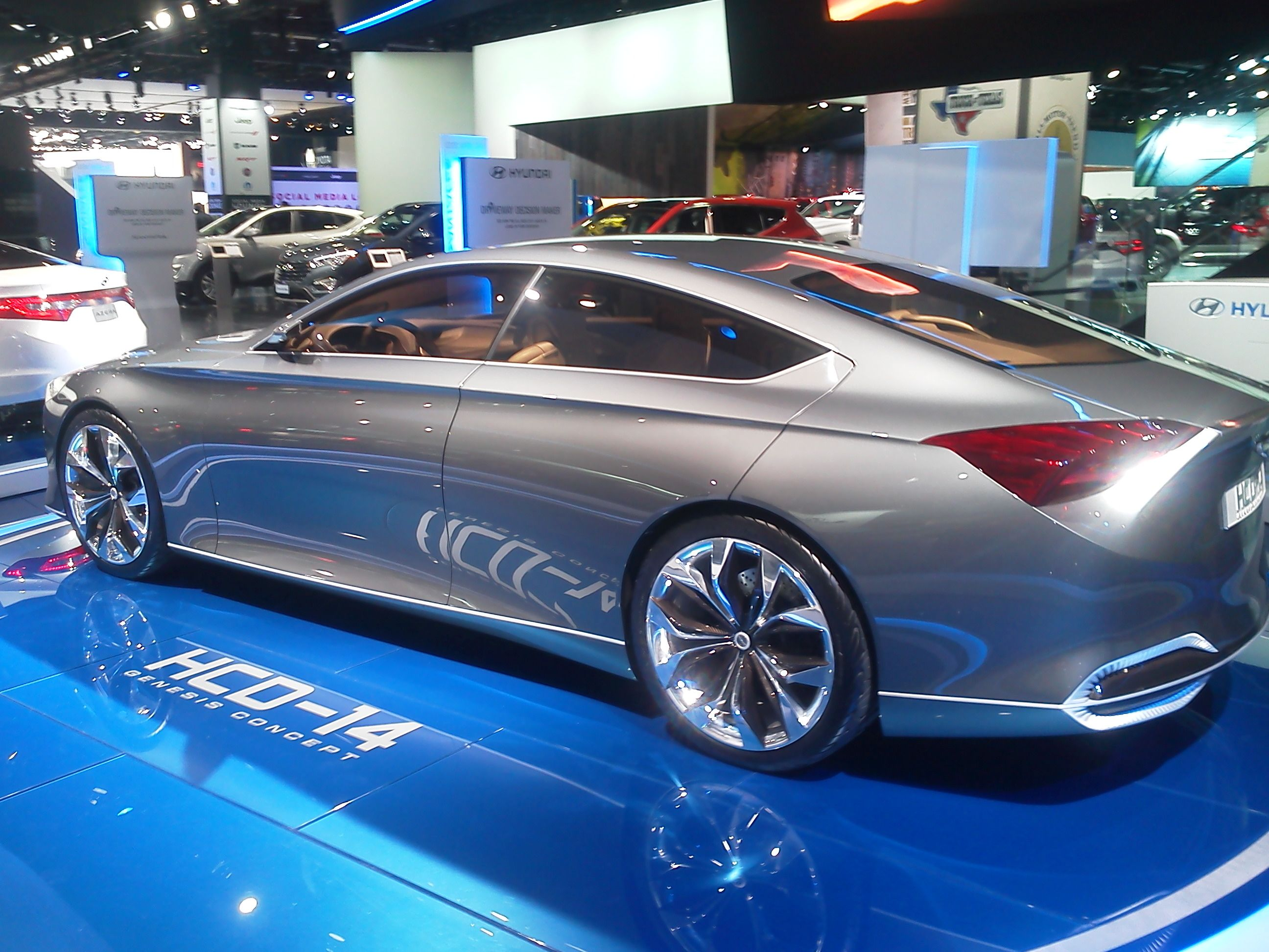 My Favorite Concept At The Detroit Auto Show Was Hyundai S Hcd 14 Can T Wait For This One Hyundai Hyundai Dealership Fancy Cars