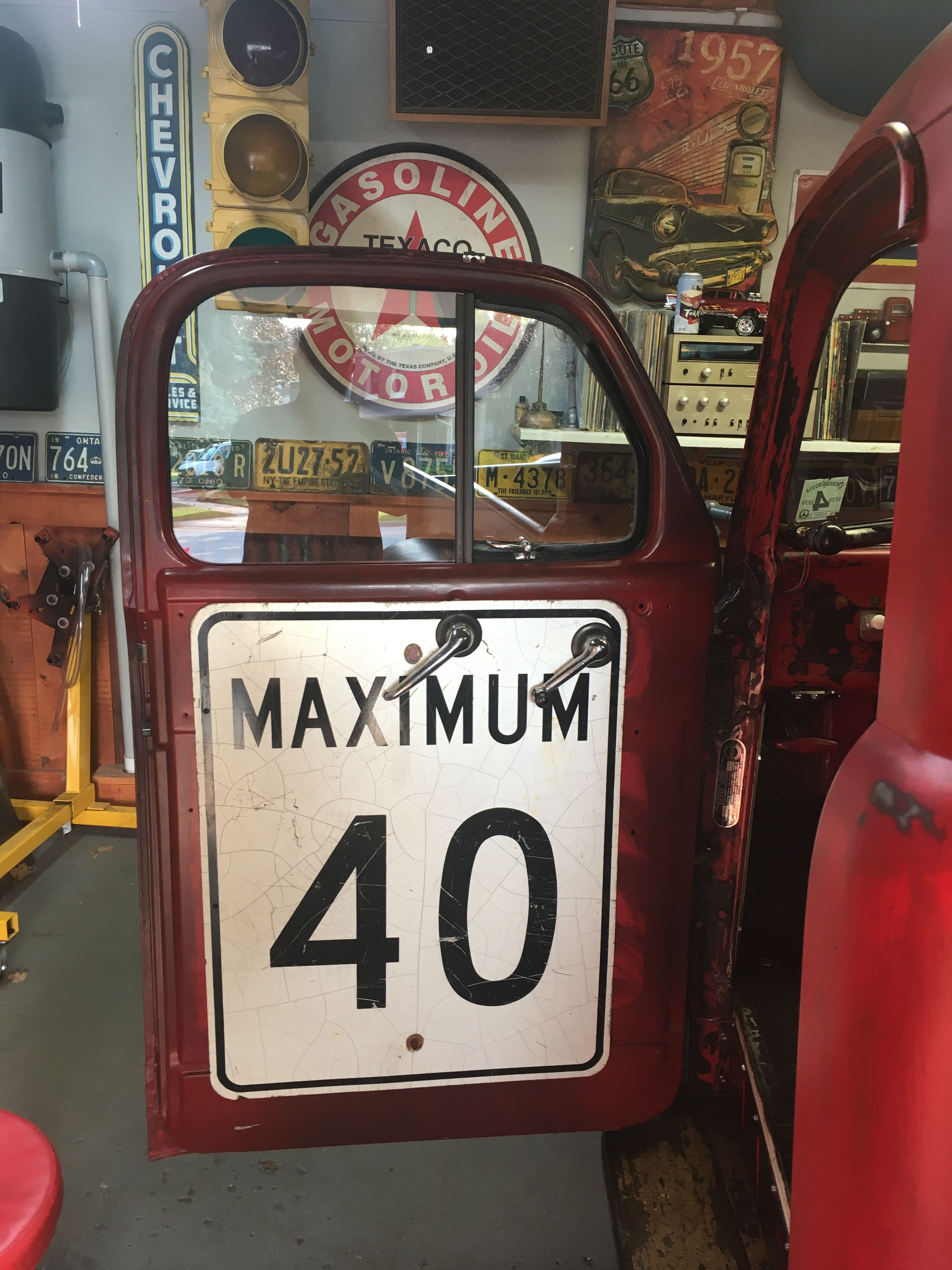 Interior Door Panels Used Old Speed Limit Signs Rat Rod Willys Jeep Willys