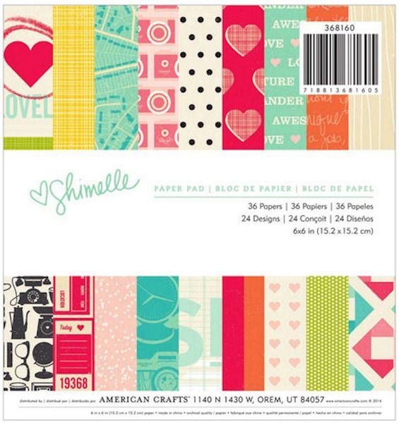 2 Pads of American Crafts Paper Pad 6 /& 9 Cardstock Designs Fall Scrapbook