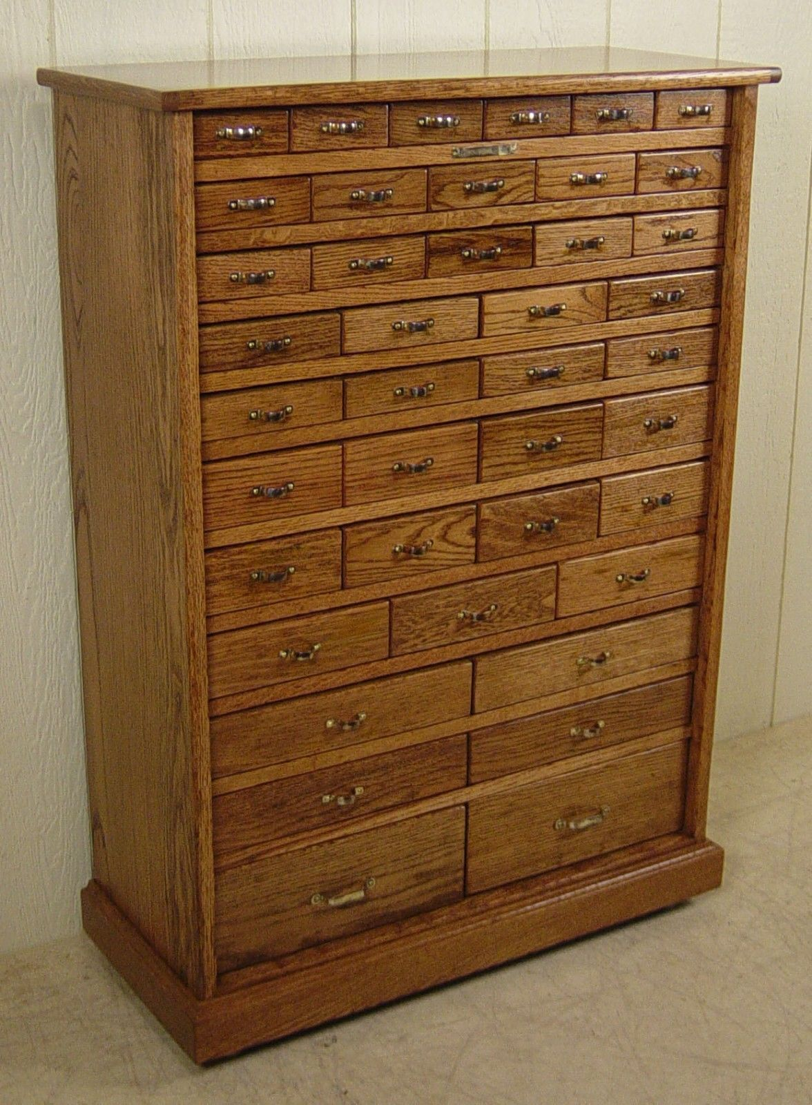 Best Antique Oak 41 Drawer Hardware Store Cabinet Made By Wc 400 x 300