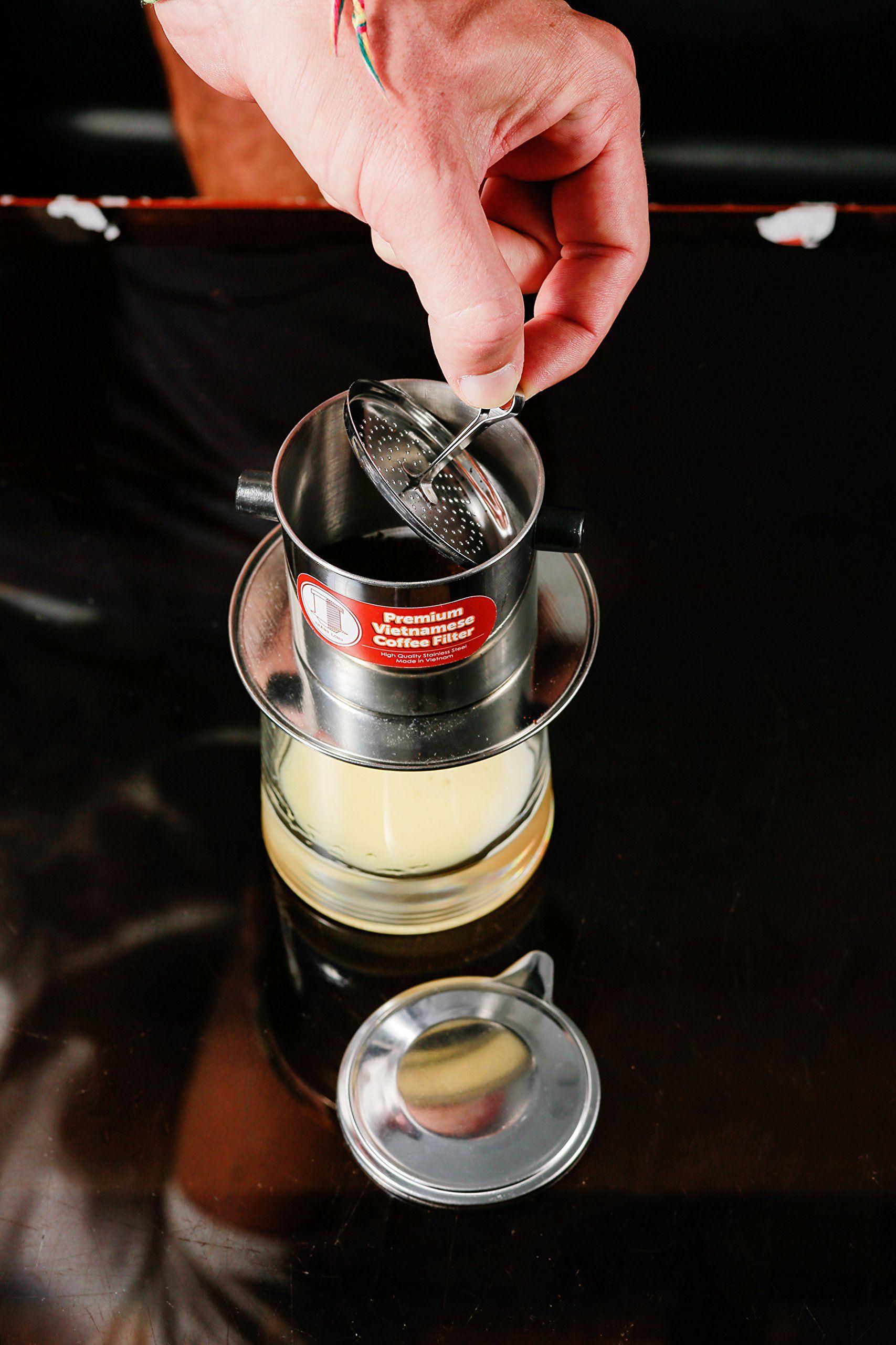 Vietnamese drip coffee maker filter single cup serve inox oz