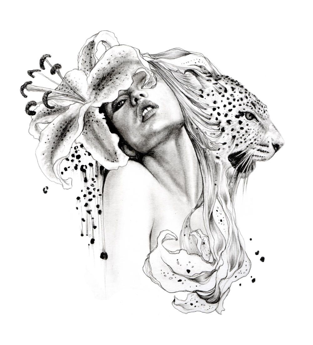 Sketch Is Just A Delicious Piece Of Human: Flower Art Drawing, Human Painting