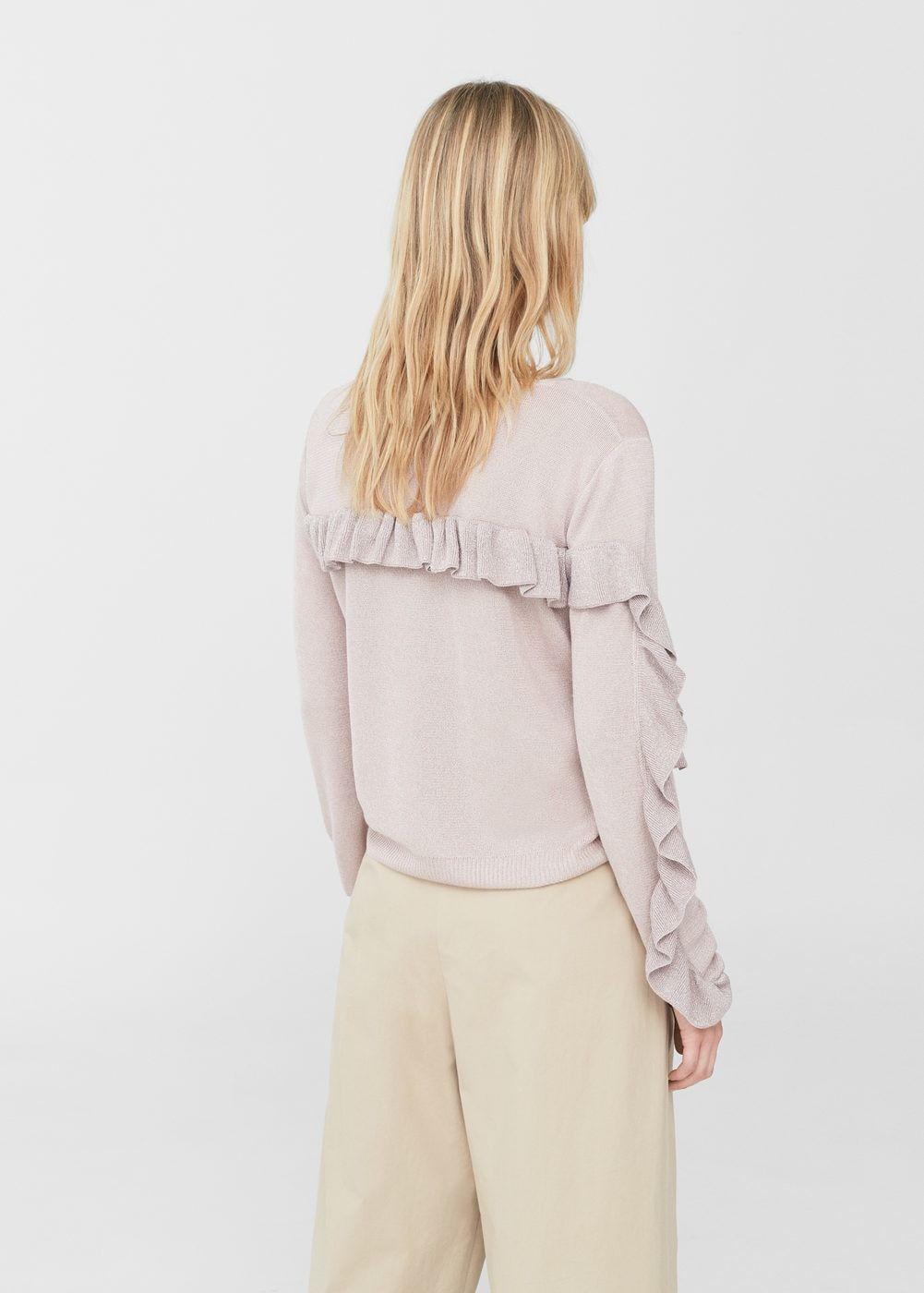 3a1433166cad Ruffled sweater | MANGO. Ruffled sweater | MANGO Metallic Thread ...