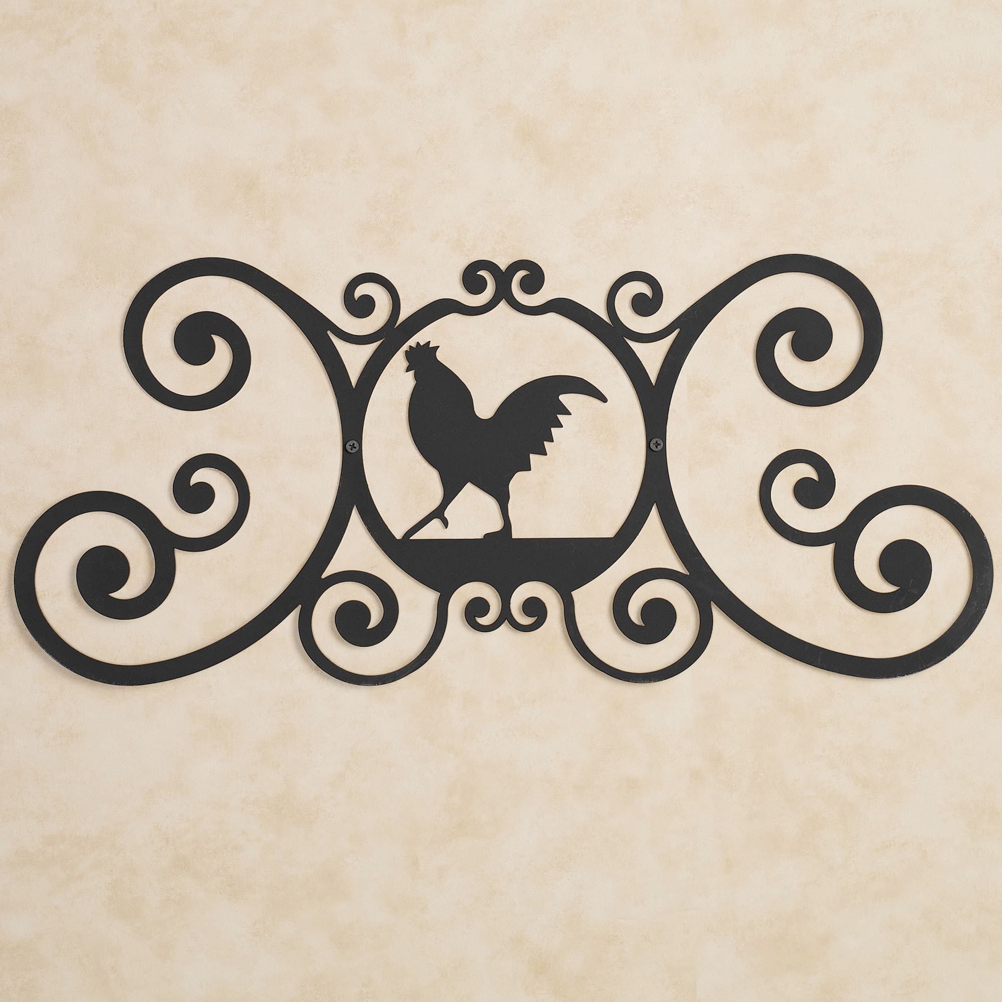 Black Wrought Iron Wall Art Brilliant Iron Rooster Over The Door Plaque  Door Plaques Doors And Iron Design Ideas