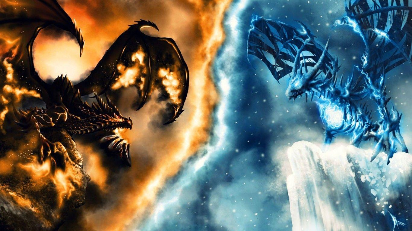 Blue Fire Dragon Wallpaper Hd - Vote Wallpaper