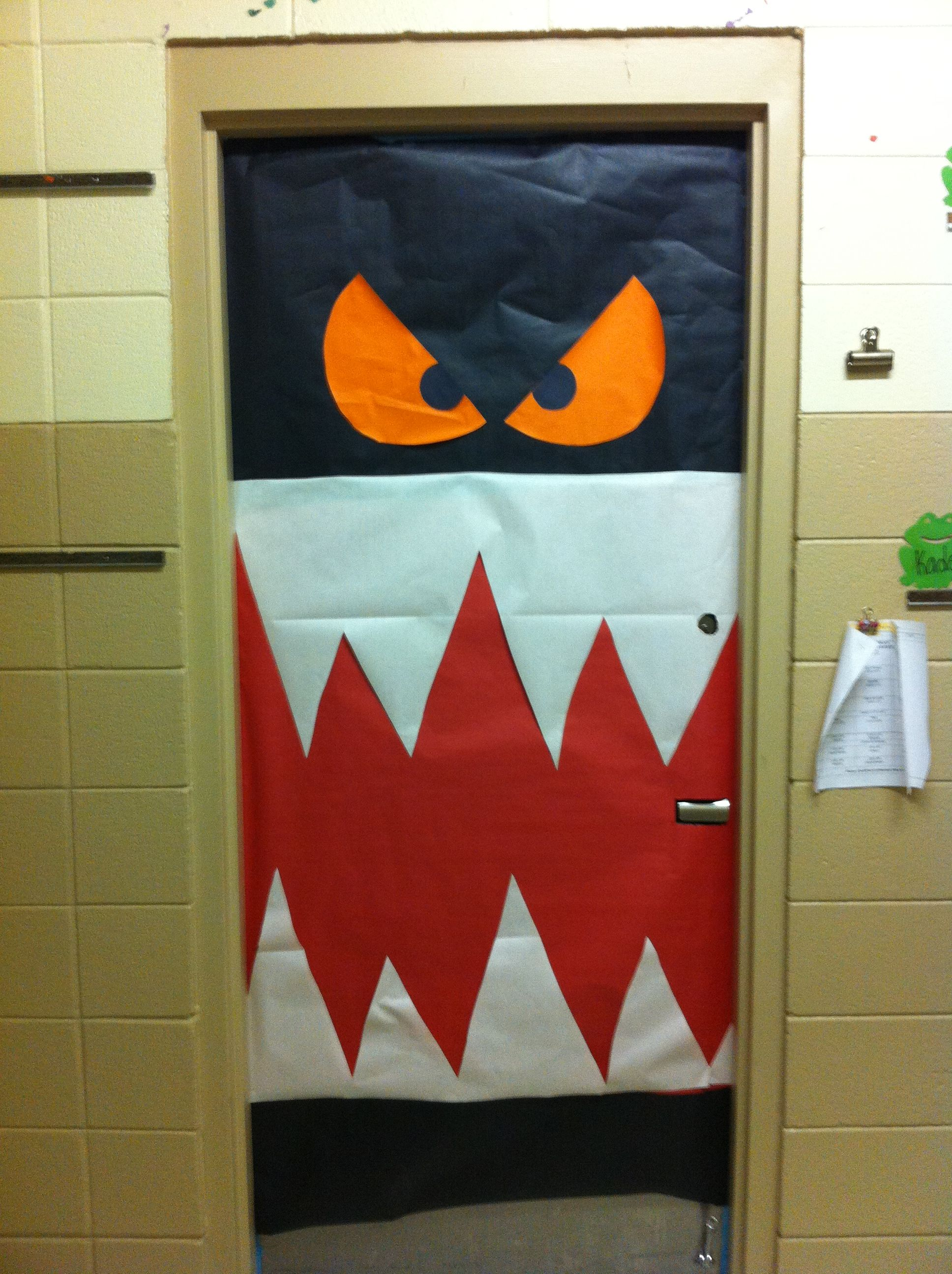 Simple Halloween Classroom Decorations : Halloween classroom door decoration