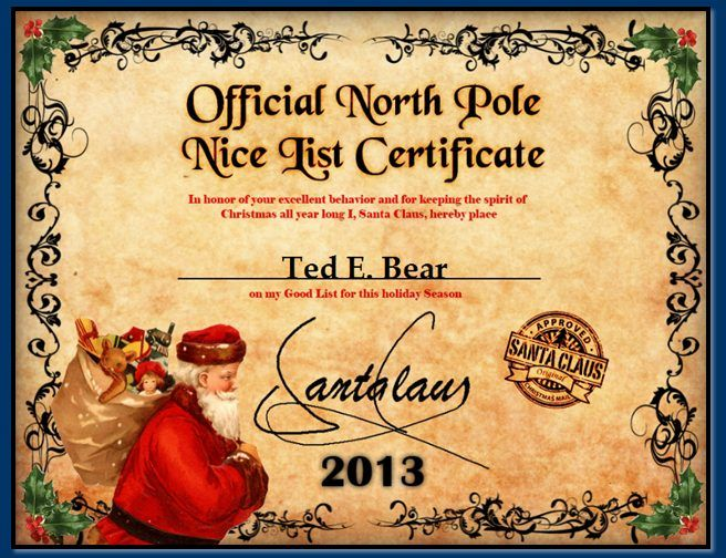 Official north pole mail personalized letters from santa claus free printable santa letters nice list certificate from santa college graduate sample resume examples of a good essay introduction dental hygiene cover yelopaper Images