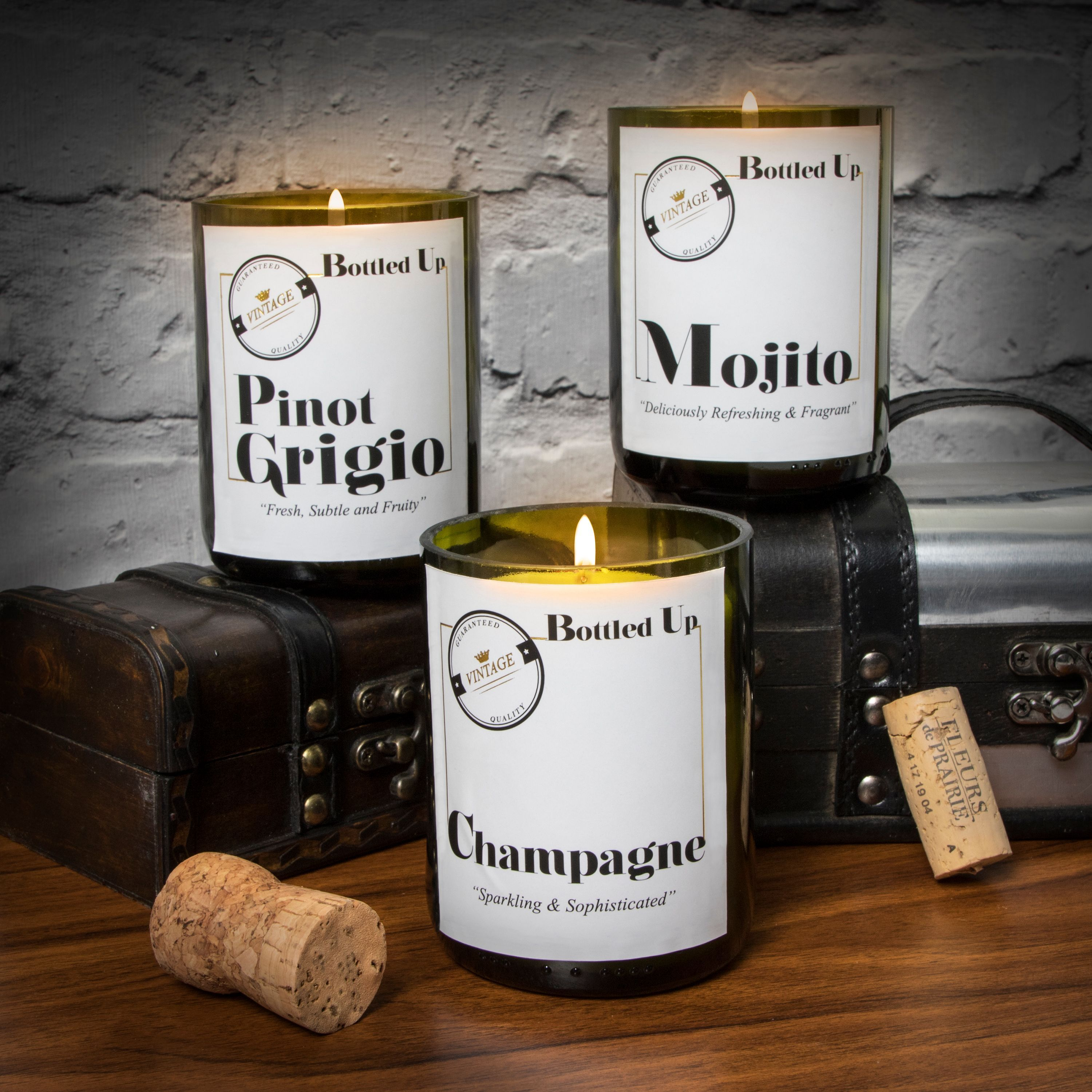 Bottled Up Scented Candles Made From Real Recycled Wine