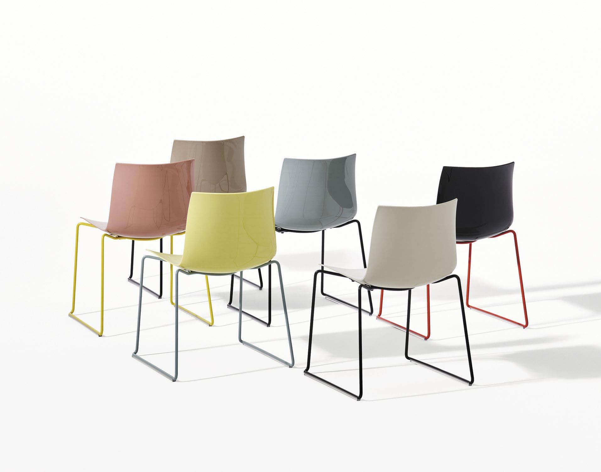 Moderne Stühle moderner stuhl gewebe aus kunststoff aus stahl catifa 46