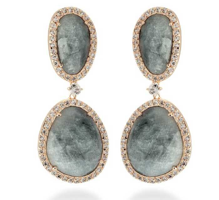 """2662b3e25b59 Catálogos de joyas en plata y acero de Luxenter. Pendientes de Luxenter  """"Nyenty"""" en plata chapado oro rosa"""