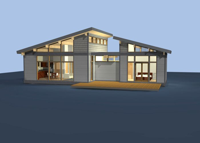 Diseño de casas de campo construidas con madera, típica estructura ...