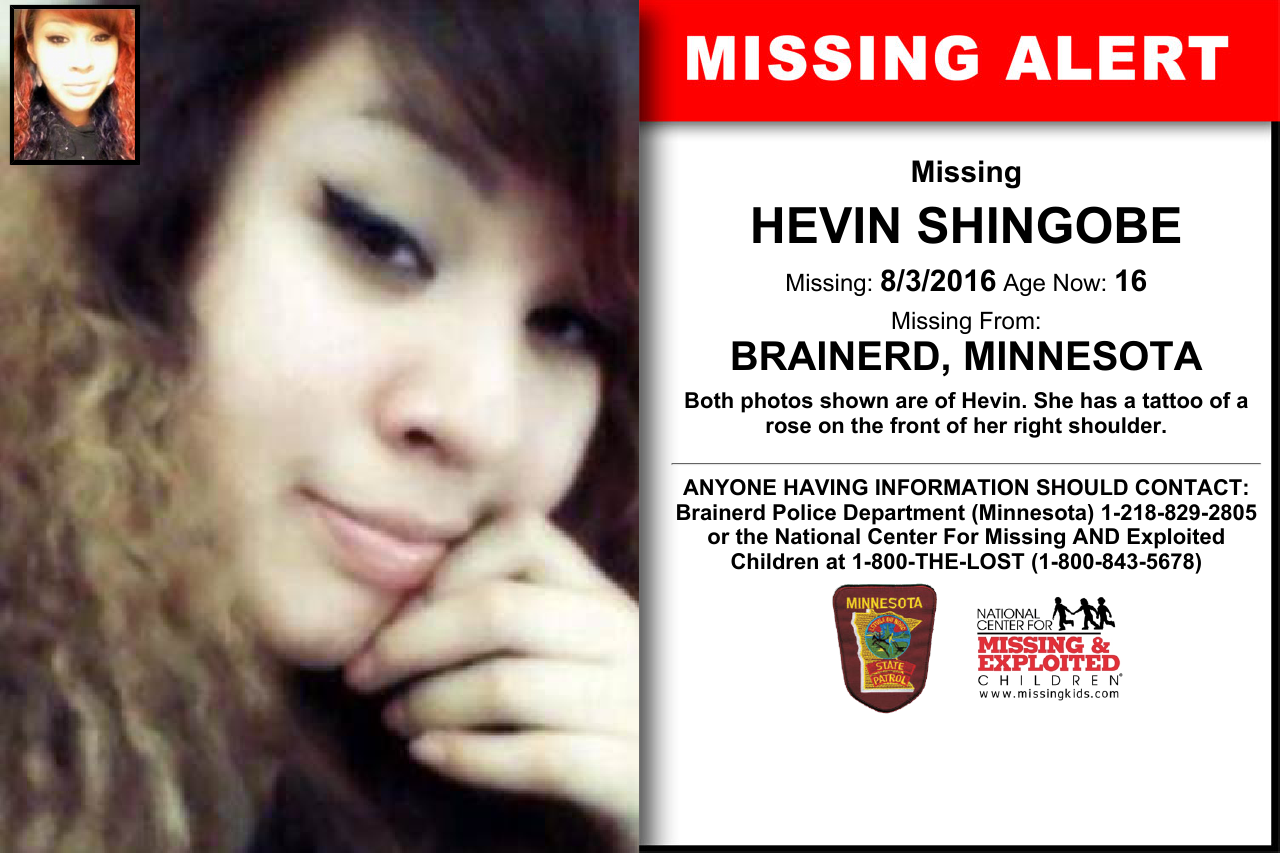 Hevin Shingobe Age Now 16 Missing 08 03 2016 Missing From