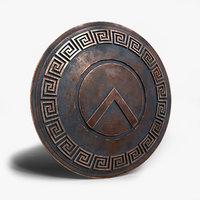 Shield 3d Models For Download Turbosquid Spartan Shield Shield Tattoo Shield