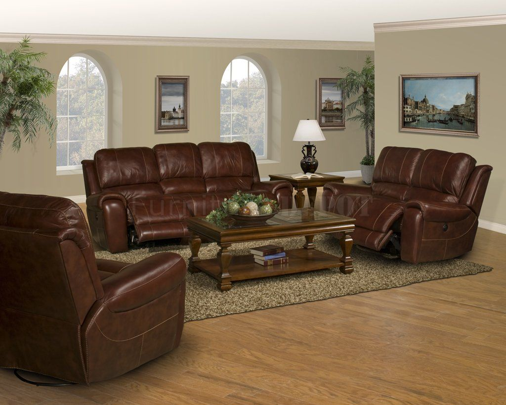 Genial Decorator Couches | Dark Burgundy Leather Titan Classic Motion Sofa U0026  Loveseat Set
