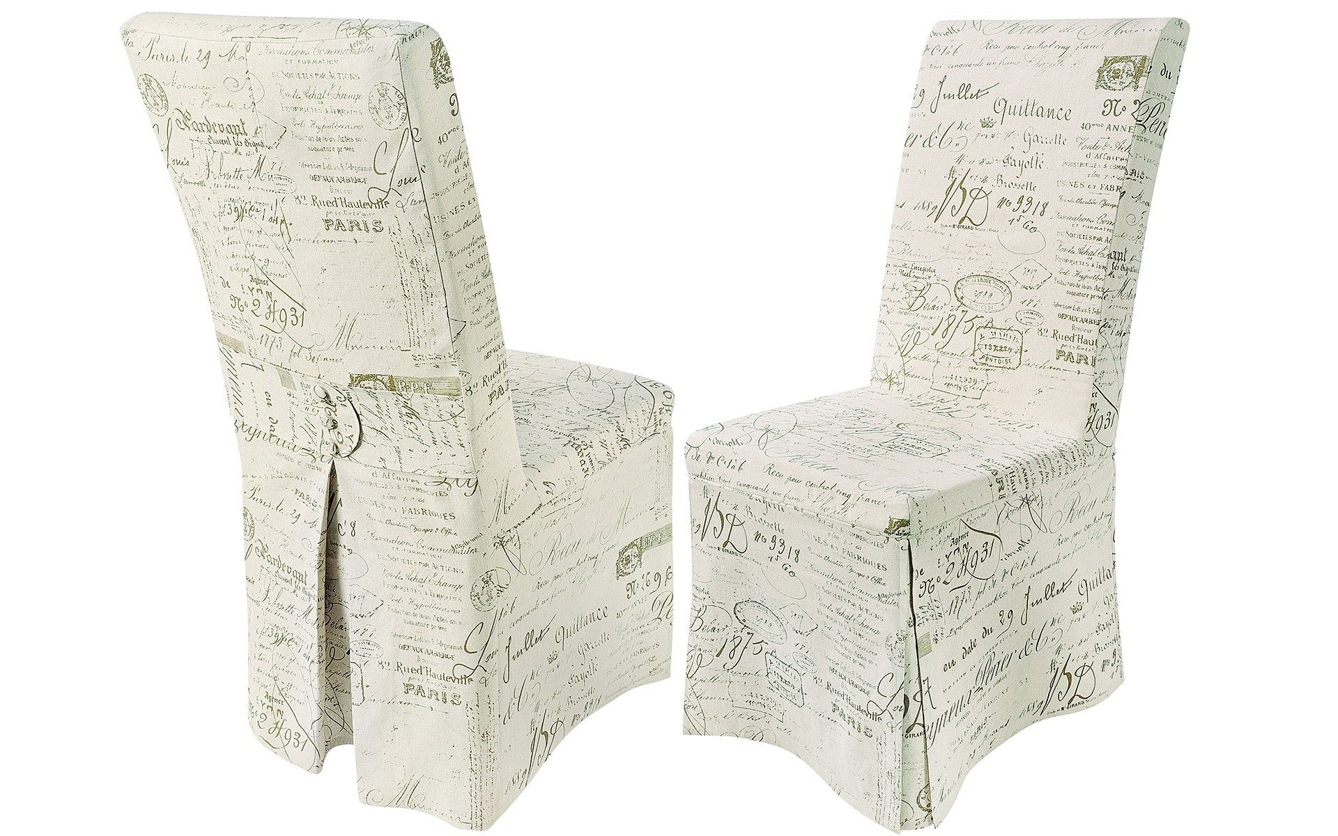 Pair Of Loose Cover Dining Chairs French Country Chair Covers