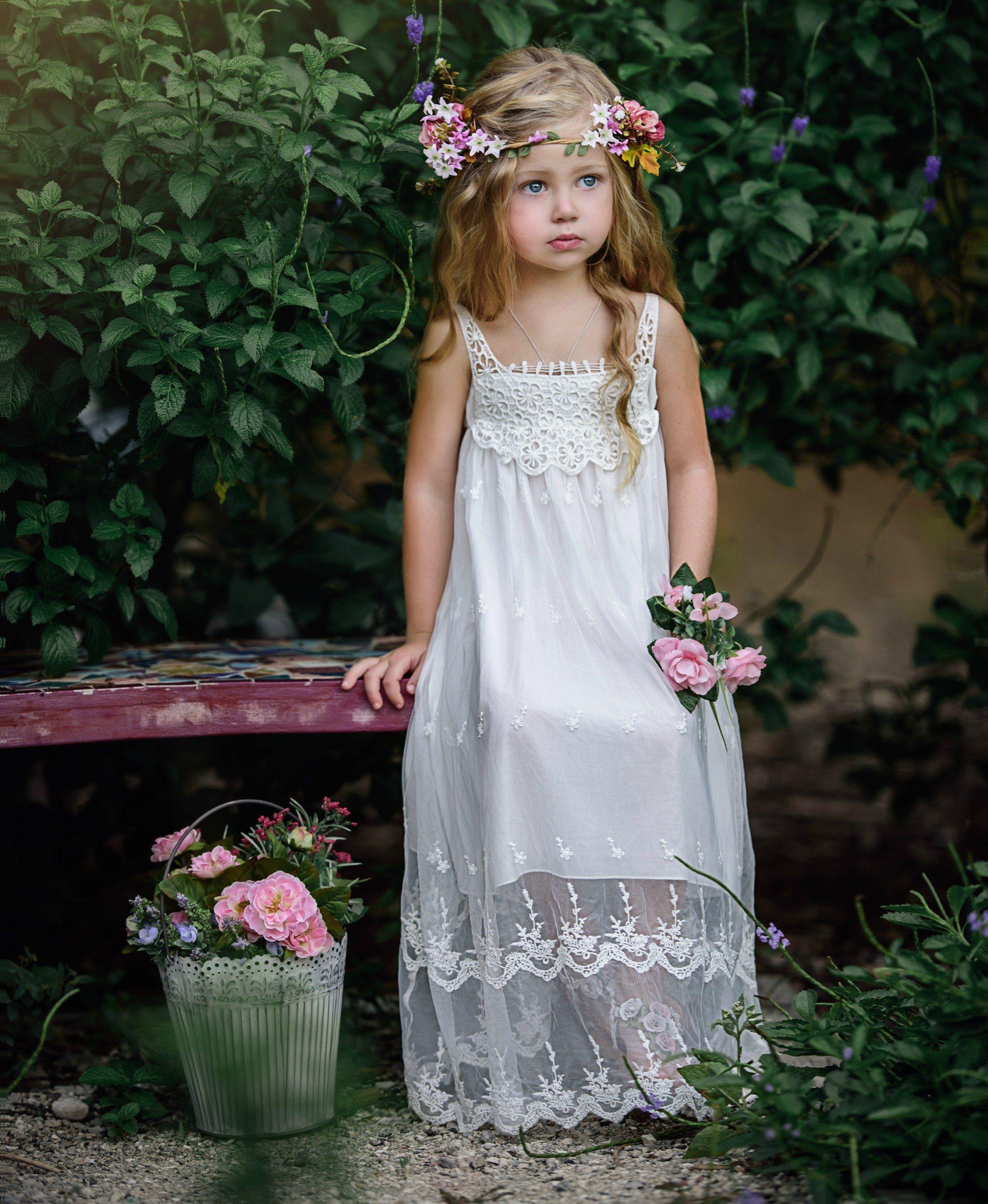 19 bohemian flower girls dresses perfect for summer beach