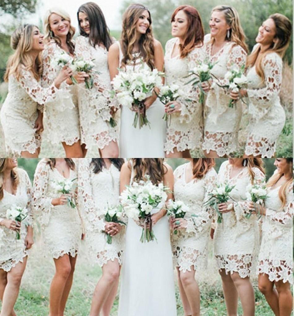 Sexy Mini/Short Lace Bridesmaid Dresses