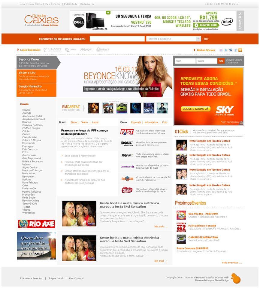 Portal de entretenimento e notícias do município de Duque de Caxias (RJ)