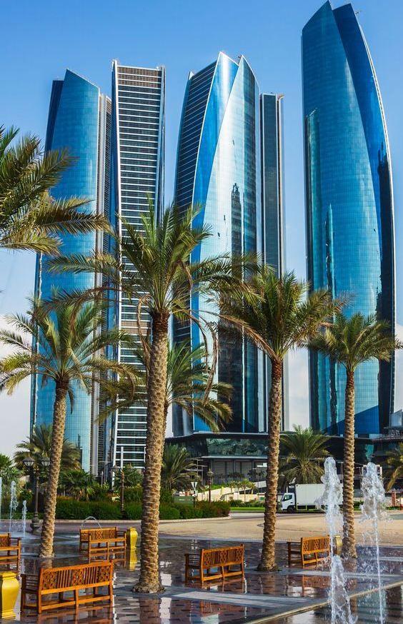 Etihad Towers look stunning from any corner of Abu Dhabi.