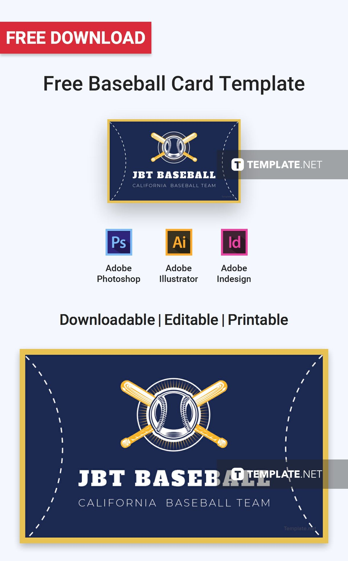 Free Baseball Card Free Card Templates Pinterest Card