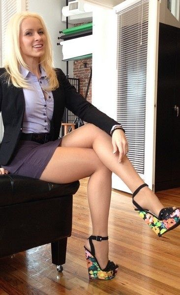 Ladies in pantyhose and miniskirts