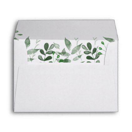 Greenery Wedding Invitation Envelope Template Wedding Printed