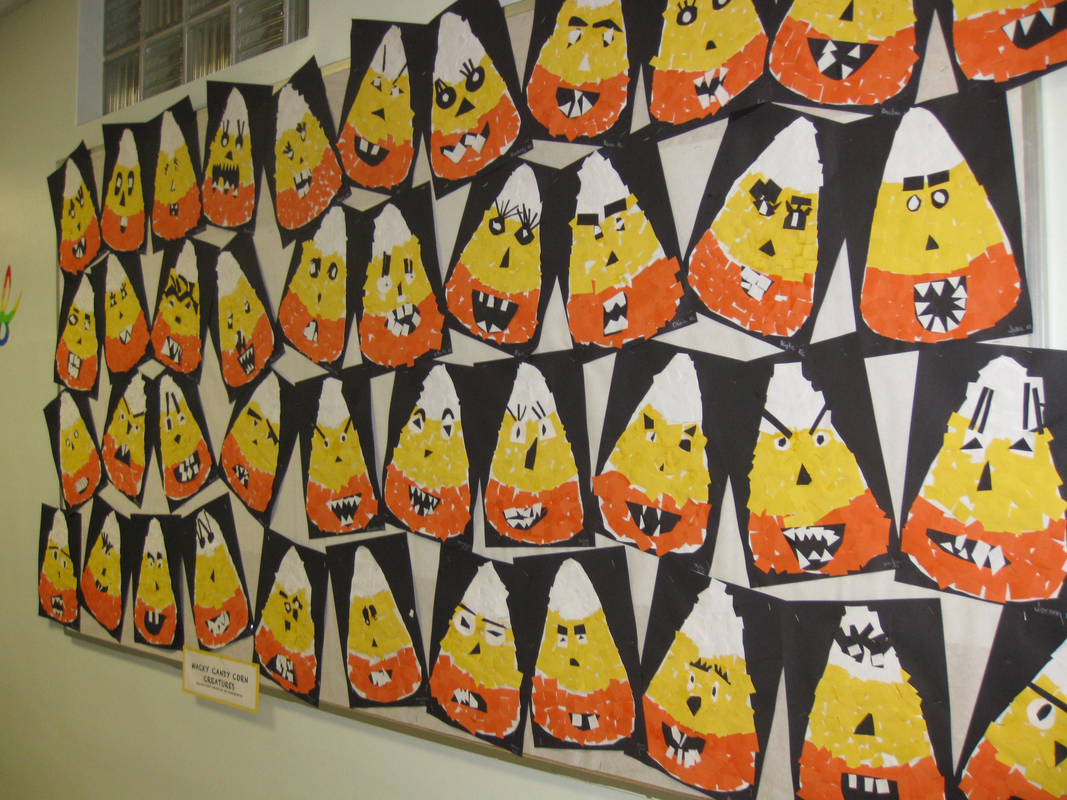 Wacky Candy Corn Collage 2 Gr K