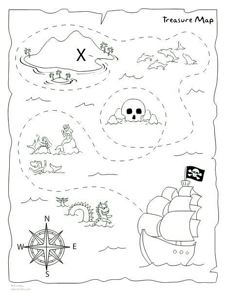 image relating to Printable Treasure Maps called Do it yourself treasure map printable Pirate Bash Pirate treasure